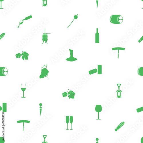 wine icon pattern eps10