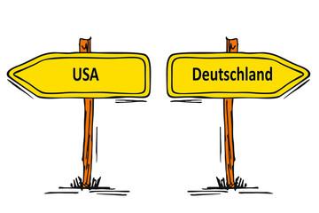 USA - Deutschland