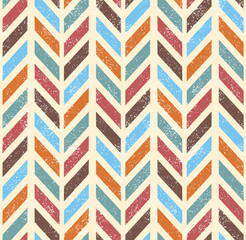 Seamless grunge vector chevron pattern