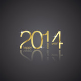 Fototapety Gold New Year 2014 black background vector