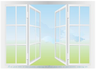 Window view design.