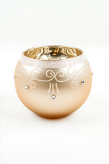 A decorative candle holder for the holiday season