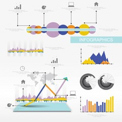 Infographics options banner. Vector design.