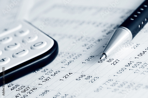 Leinwanddruck Bild Financial accounting