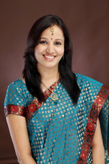 Beautiful young Indian traditional woman