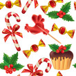 Seamless pattern of New Year sweets