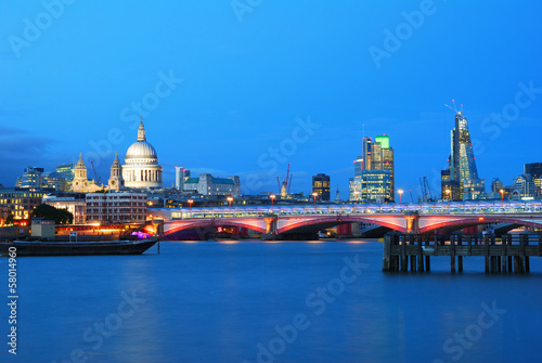 Saint Paul's Cathedral and Blackfriars Bridge