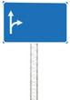 Road Junction Driving Direction Info Sign Panel Signboard