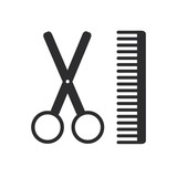 Barbershop icon poster