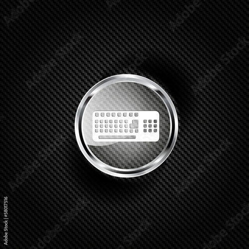 Computer keyboard web icon