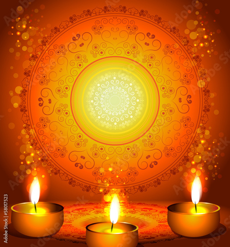 background for diwali festival with lamps