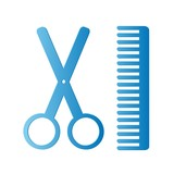Blue Barbershop icon poster