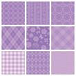 紫 広告 背景 セット