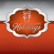 Elegant label Christmas card in vector format.