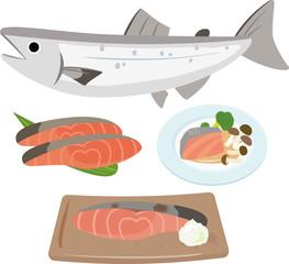 鮭と鮭を使った料理