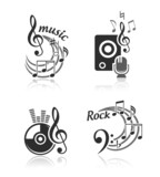 Music vector elements set