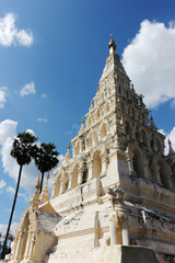 White Pagoda with blue sky