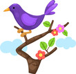 little bird on branch