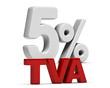 TVA Taux Réduit 5 Pourcent - T V A 5%