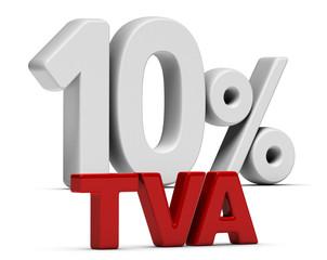 TVA Taux Intermédiaire 10 Pourcent - T V A 10%