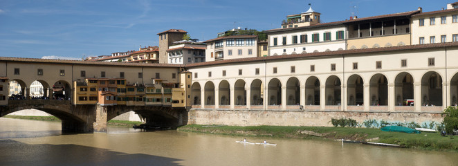 Ponte Vecchio Bridge and Uffizi, Italy
