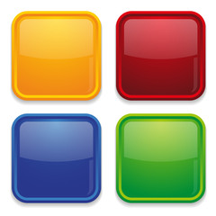 Colorful square website buttons