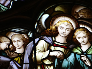 Vitrail de la cathédrale Saint-Gilles, Edimbourg, Ecosse
