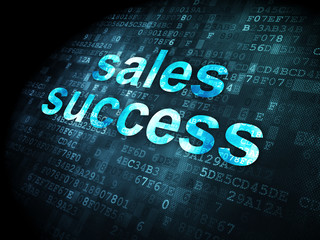 Advertising concept: Sales Success on digital background