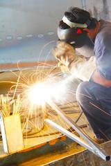 sparking of Welded steel pipe