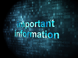Information concept: Important Information on digital background