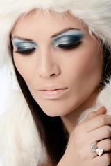 Professional winter makeup