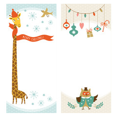 Christmas or New Year vertical banners