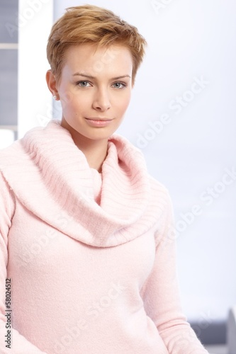 Portrait of pretty short hair woman