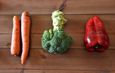 various types of vegetables