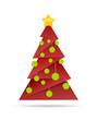 roter Weihnachtsbaum mit Kugeln