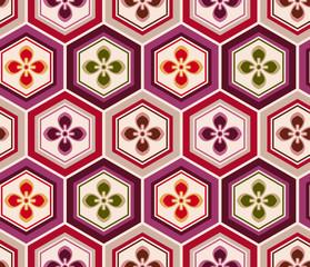 seamless japanese floral pattern