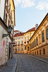 Ancient street in the city of Brno, the Czech Republic