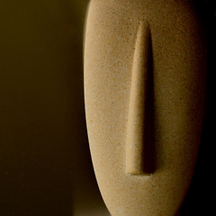 Cycladic figure - face