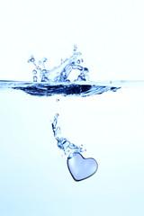 水とハート