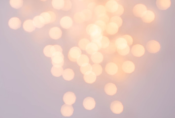 Bokeh Abstract Christmas background with glowing magic crystal h