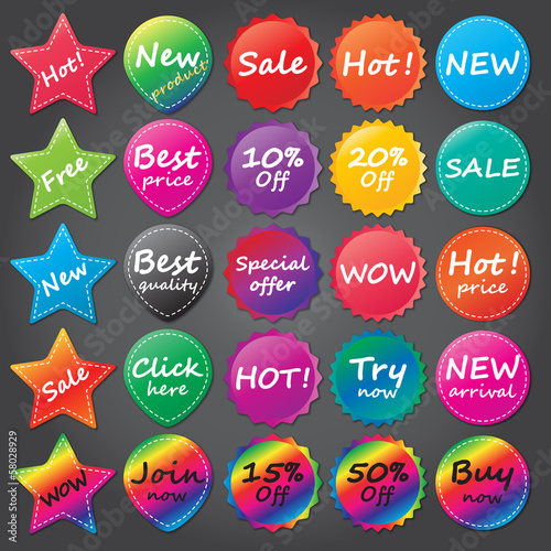 shopping stickers