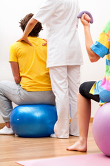 Exercises with patients