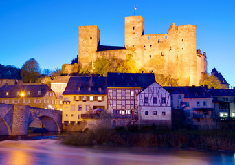 Typical German medieval castle: Runkel, Hesse, Germany.