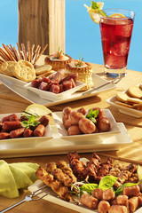 barbecue appetizers and snacks