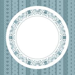Elegant doily on lace background for scrapbooks