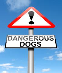Dangerous dogs concept.