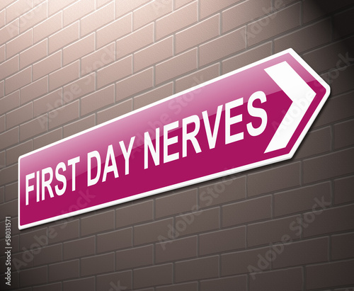 First day nerves concept.