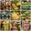 glazed pottery collection