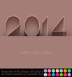 happy new year 2014, 3d illustration