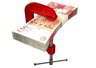Clamped Pound Notes